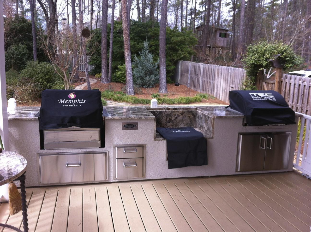 Outdoor Kitchen With Smoker Designs Part 60
