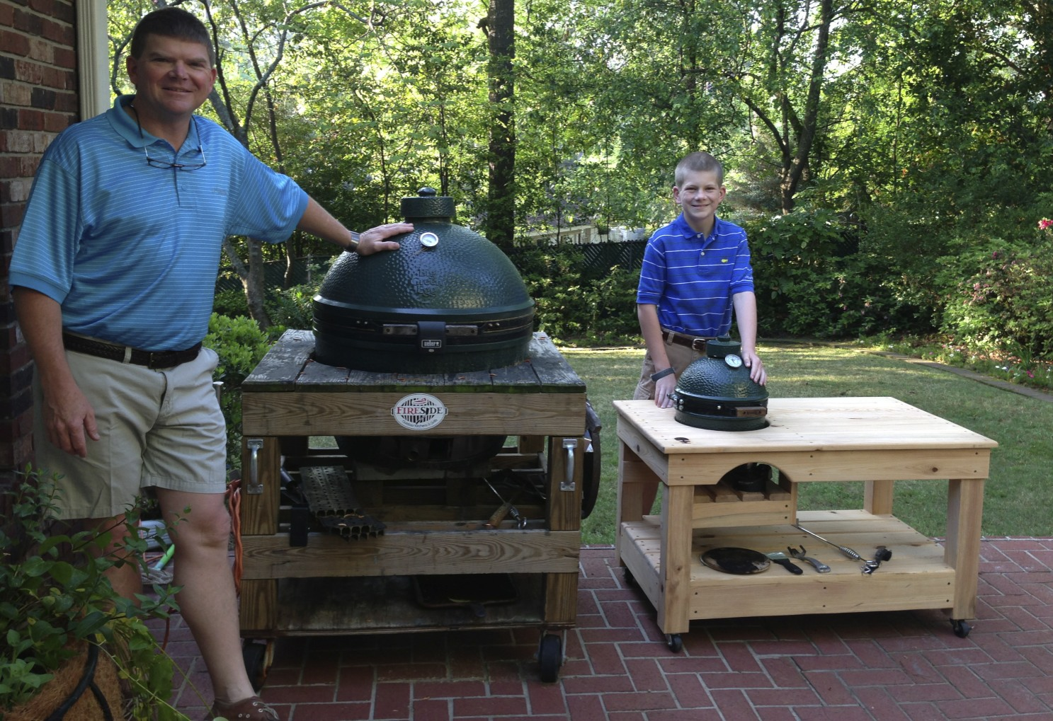 Outdoor Kitchen Island Big Green Egg
