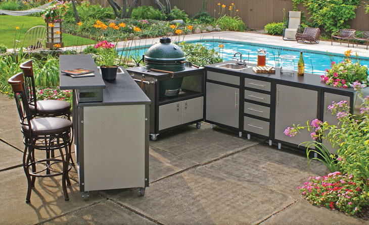 Outdoor cabinets 101 fireside outdoor kitchens for Pre built outdoor kitchen islands