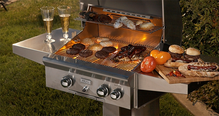 Aog Grill 24 Inch Post Mount Grill Fireside Outdoor Kitchens