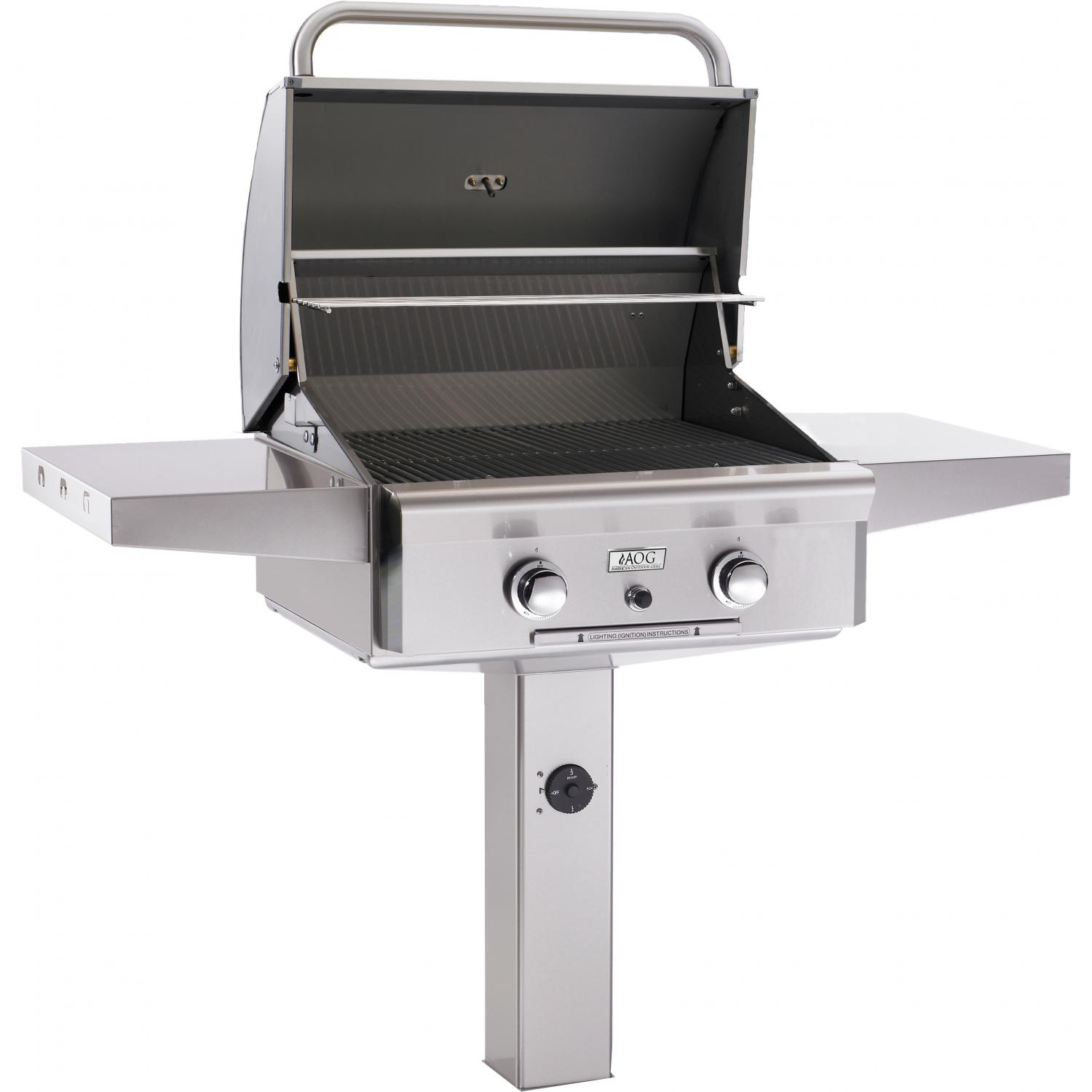 AOG Grill 24 Inch Post Mount Grill - Fireside Outdoor Kitchens
