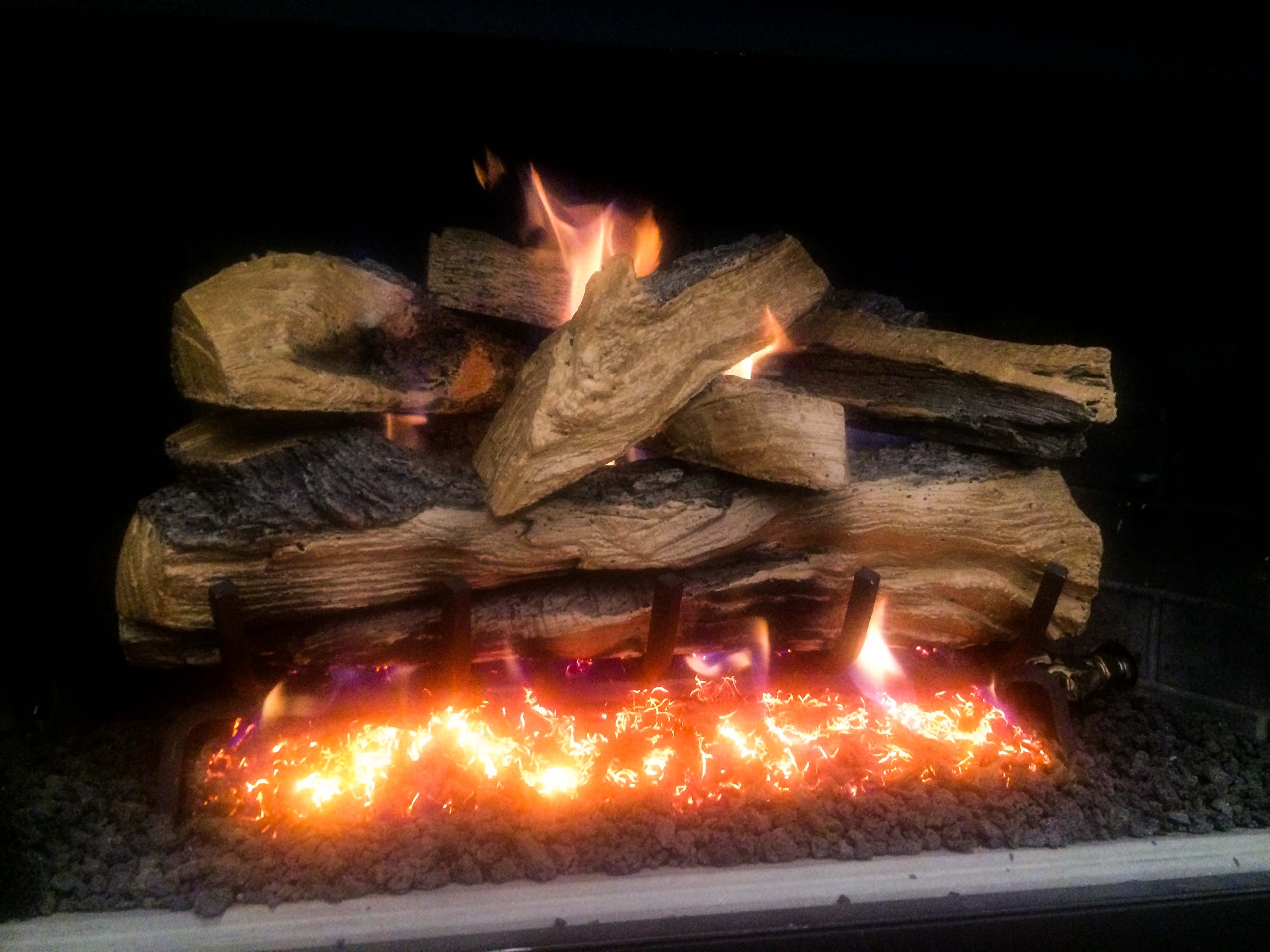 the f place gas logs product trv fireplace
