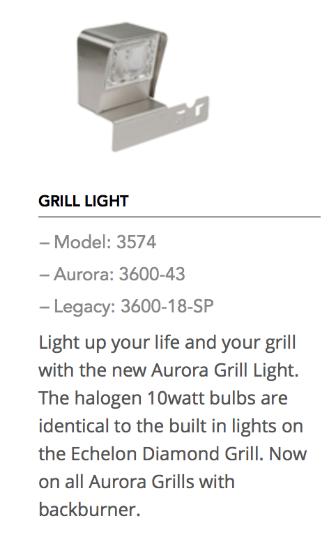 Fire Magic Grill Light Fireside Outdoor Kitchens
