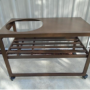 SPARK Challenger grill cart walnut color
