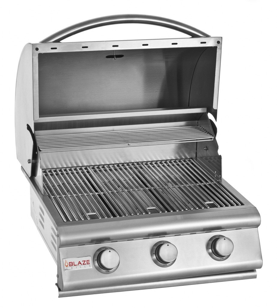Blaze 25 Inch 3 Burner Grill Fireside Outdoor Kitchens